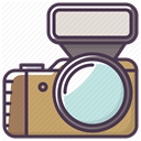Camera, Flash, electronics, Photographer, Device, Appliances DarkSlateGray icon