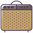 Amp, sound-producer, instrument, guitar-amp, guitar-amplifier, sound amplifier, speaker DarkKhaki icon