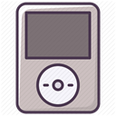 technology, music, ipod, player, Audio, sound, electronics Silver icon
