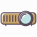 Projector, video, Projection, projector device, projection device DimGray icon