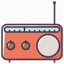music, equipment, electronics, Device, Appliances, sound, radio DarkSlateGray icon
