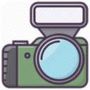 Appliances, Photographer, electronics, Camera, Device, Flash DarkSlateGray icon
