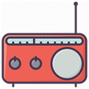 sound, Device, equipment, electronics, music, radio, Appliances DarkSlateGray icon