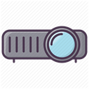 video, Projector, projector device, projection device, Projection DimGray icon