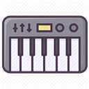 electronics, synthesizer, Device, music, Appliances, piano DarkSlateGray icon