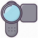 video, electronics, movie, technology, Device, Camera, Appliances LightSlateGray icon