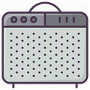 Amp, sound-producer, guitar-amplifier, sound amplifier, speaker, instrument, guitar-amp LightGray icon