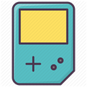 Gameboy, Game, video game, entertainment, game device MediumTurquoise icon
