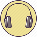 play, hear, Headset, Audio, music, listen, Headphone Khaki icon