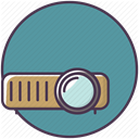 projector device, Projection, projection device, Projector, video CadetBlue icon