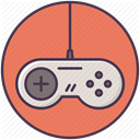 Playstation, Device, xbox, electronics, Control, gaming, joystickplay Salmon icon