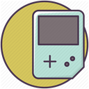 entertainment, video game, Game, Gameboy, game device DarkKhaki icon