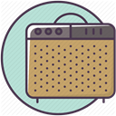 Amp, sound-producer, instrument, sound amplifier, guitar-amp, guitar-amplifier, speaker DarkKhaki icon
