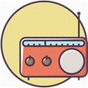 Appliances, electronics, radio, equipment, music, Device, sound Khaki icon