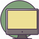 Computers, monitor, Computer, Imac, screen, Device, technology Khaki icon