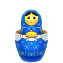 matrioshka, matreshka, mother, souvenir, open, baby, inside Black icon