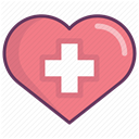 care, treatment, recovery, hospital, medicine LightCoral icon