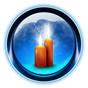 dooffy, 0008, ikony, christmas, Candles MidnightBlue icon