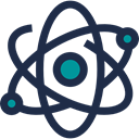 physics, science, nuclear, Electron, Atomic, education DarkSlateGray icon