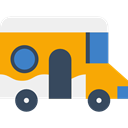 vehicle, transport, travel, van, Delivery, distribution Orange icon