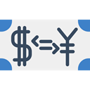 Money, yen, commerce, Business, Currency, finances, exchange, Dollar, Coins, travel, Currency Exchange WhiteSmoke icon