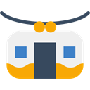 transport, Cable, transportation, travel, Funicular, Tramway, Railway WhiteSmoke icon