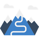 mountain, travel, nature, Snow, mountains, Altitude, landscape SteelBlue icon