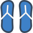 fashion, flip flops, Holidays, Summertime, Flip flop, footwear, sandals SteelBlue icon