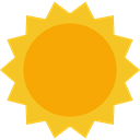 weather, warm, Holidays, summer, sun, meteorology, Summertime, Sunny, nature Orange icon