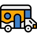 travel, vehicle, transport, Delivery, van, distribution Black icon