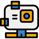 camcorder, travel, domestic, digital camera, technology, electronics, gopro, video camera WhiteSmoke icon