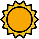 nature, weather, Holidays, sun, Sunny, warm, summer, meteorology, Summertime Orange icon