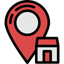 signs, pin, placeholder, map pointer, Map Point, Map Location, Gps, travel, house, real estate, Home IndianRed icon