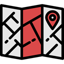 Orientation, position, Geography, Map, Maps And Flags, interface, location, travel Gainsboro icon