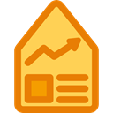 Business, Line Graph, house, Stats, Amount, Business And Finance, real estate DarkOrange icon