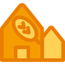 Home, real estate, buildings, house, Page, internet DarkOrange icon