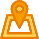 pin, Map Location, Maps And Flags, map pointer, location, real estate, Map Point, placeholder, signs DarkOrange icon