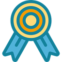 Quality, medal, Certification, winner, Sports And Competition, award DarkCyan icon