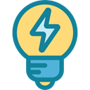 Business And Finance, bulb, invention, illumination, Idea, electricity, Light bulb, technology DarkCyan icon