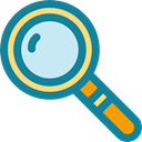 Loupe, magnifying glass, detective, search, zoom, Tools And Utensils, Business And Finance DarkCyan icon