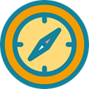 Direction, compass, Orientation, Tools And Utensils, Business And Finance, Cardinal Points, location DarkCyan icon