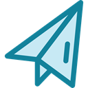 paper plane, Message, childhood, gaming, Origami, Airplane Origami DarkCyan icon