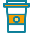 coffee cup, Coffee Shop, food, Paper Cup, Coffee, Take Away, Business And Finance, hot drink DarkCyan icon