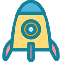Space Ship, Rocket, Rocket Launch, Space Ship Launch, Rocket Ship, transport, Business And Finance DarkCyan icon