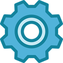 Tools And Utensils, Business And Finance, cogwheel, Gear, configuration, settings MediumTurquoise icon