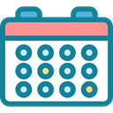 interface, Calendar, Organization, Business And Finance, Schedule, date, time, Administration, Calendars DarkCyan icon