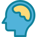 Body Part, Body Organ, Brain Anterior, Business And Finance, Brain, Human Brain, people, medical, Anterior Part MediumTurquoise icon