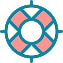 Lifesaver, security, Business And Finance, help, Floating, lifebuoy, lifeguard DarkCyan icon