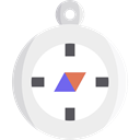 Cardinal Points, compass, location, travel, Orientation, Direction, Tools And Utensils WhiteSmoke icon