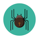 spider LightSeaGreen icon